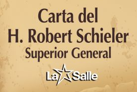 Paz en Colombia, Carta del H. Robert Schieler, Superior General